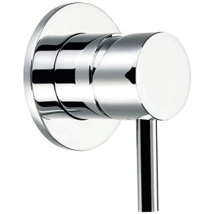 Flova Levo Manual Shower Mixer with Dual Outlet Round Backplate