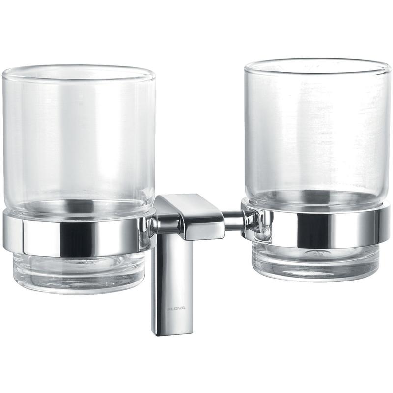 Flova Lynn Double Glass Tumbler Holder