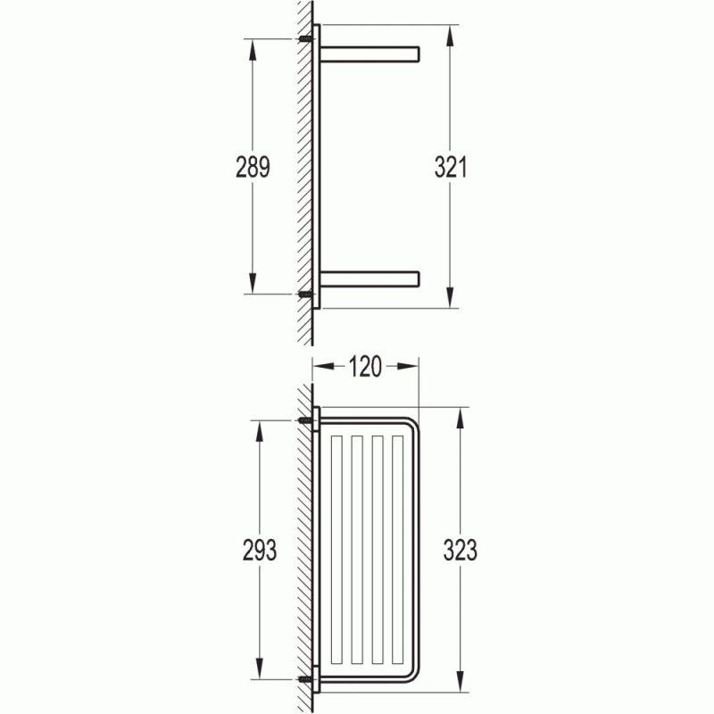Flova Sofija Double Glass Shelf 325mm