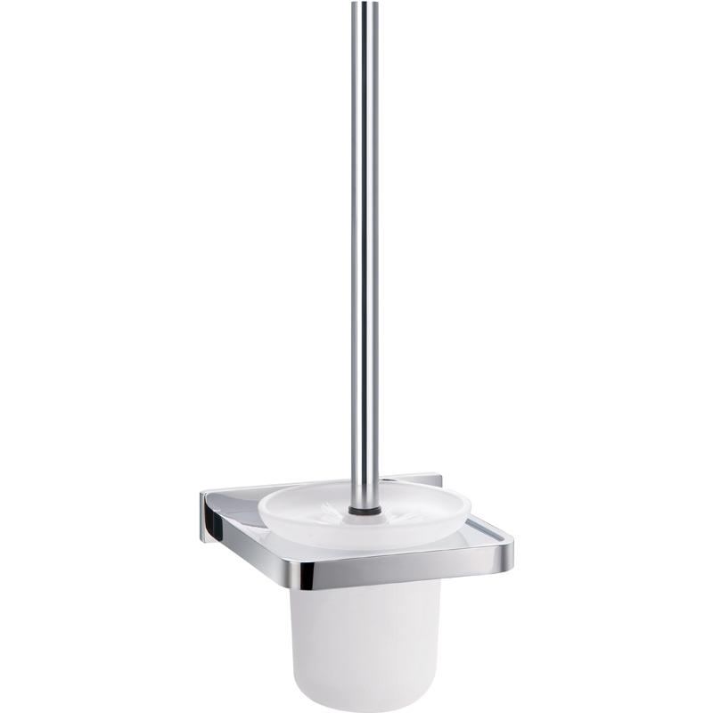 Flova Sofija Toilet Brush with Steel Handle & Glass Holder