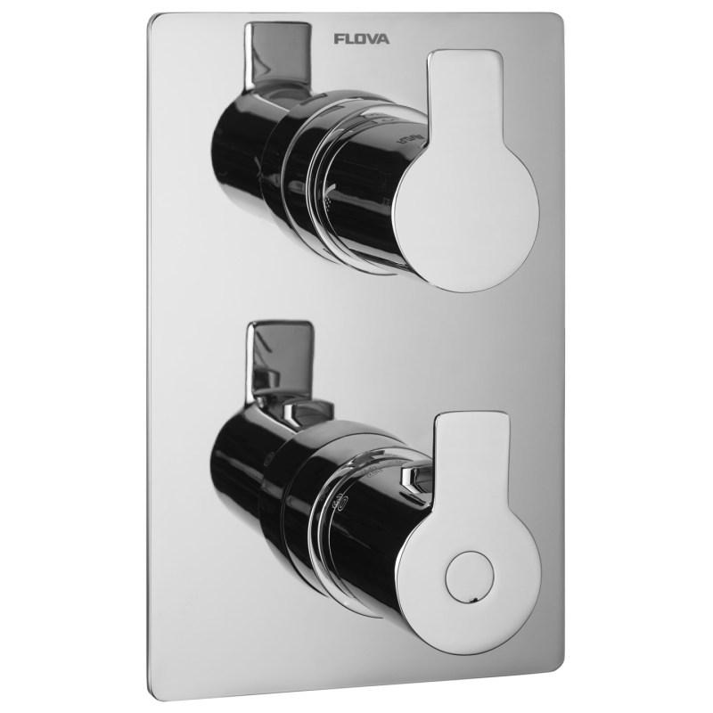 Flova Spring Slim Square 3 Outlet Shower Trim Kit Only