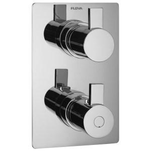 Flova Str8 Slim Square 2 Outlet Shower Trim Kit Only