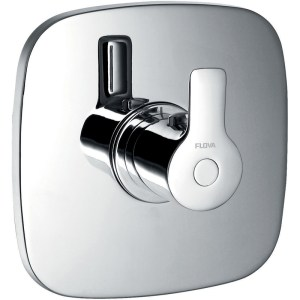 """Flova Urban Thermostatic Shower Mixer with Dual Outlet 3/4"""""""