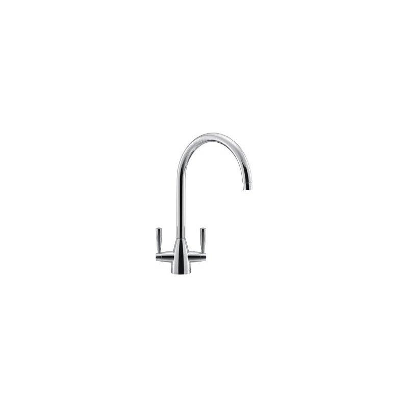 Franke Eiger Kitchen Sink Mixer with Lever Handles Chrome
