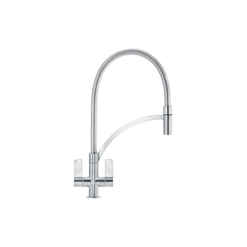 Franke Zelus Kitchen Sink Mixer with Pull Out Nozzle SilkSteel