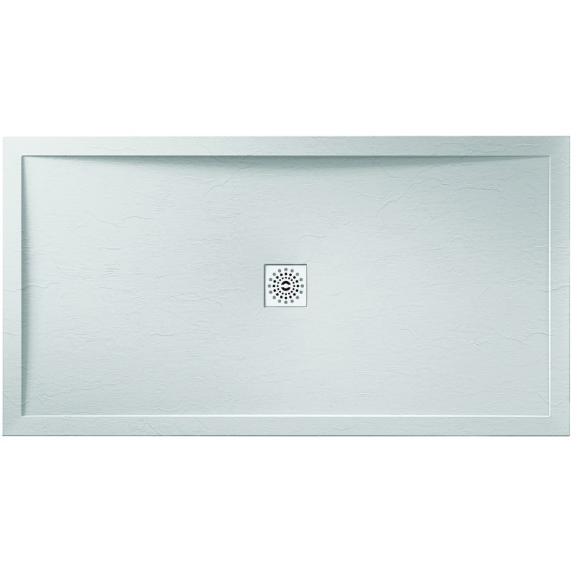 Aquaglass 1100x800mm White Slate Effect Shower Tray