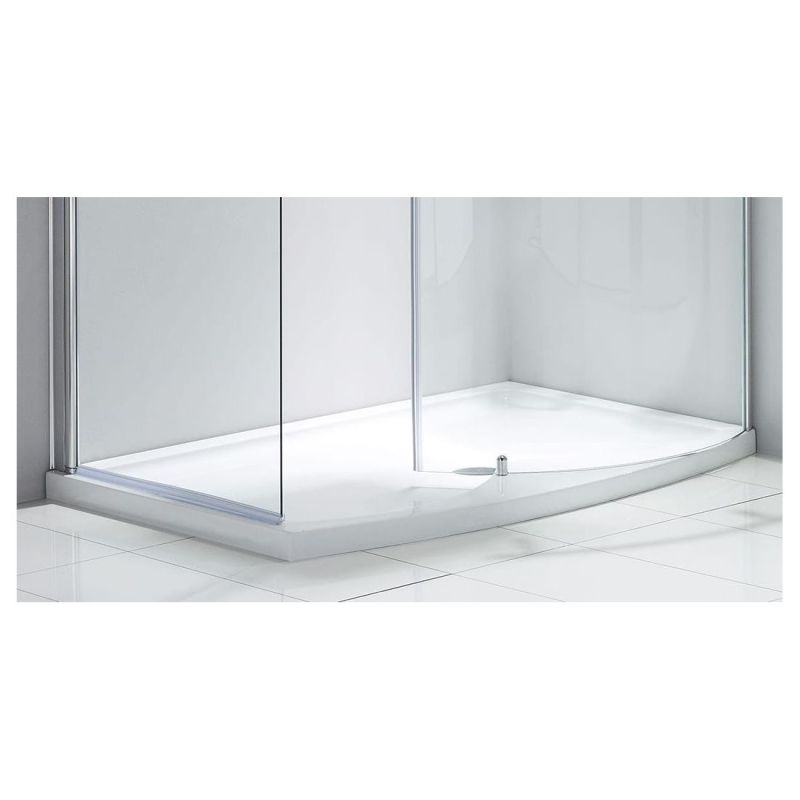 Aquaglass Purity Closing 1350x900mm Dedicated Shower Tray Right