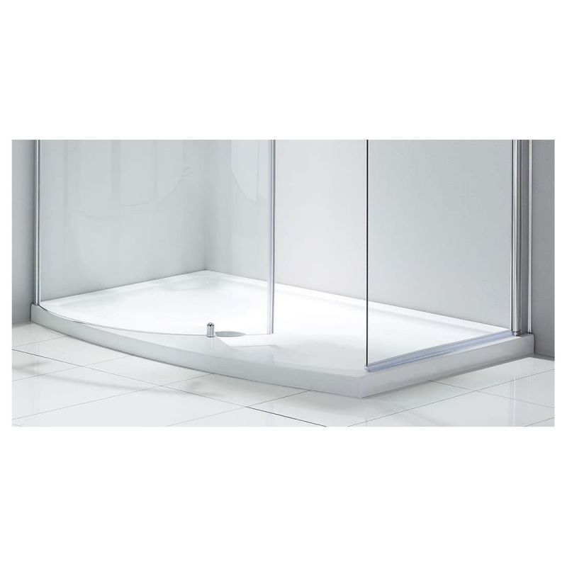 Aquaglass Purity Closing 1350x900mm Dedicated Shower Tray Left H