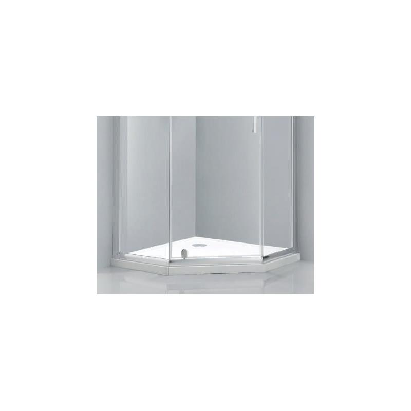 Aquaglass Purity 900mm Pentagonal Shower Tray