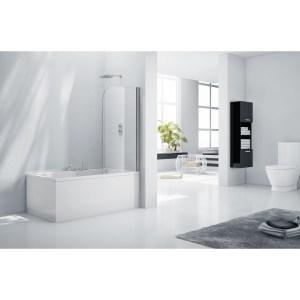 Aquaglass  6mm Rise & Fall Bath Screen 1400 x 800mm