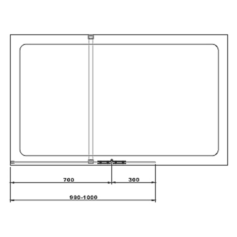 Aquaglass Hinged Walk-In 700mm & 300mm Flipper Panel