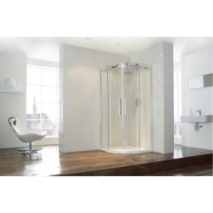 Aquaglass  Frameless 800x800mm 2 Door Quadrant
