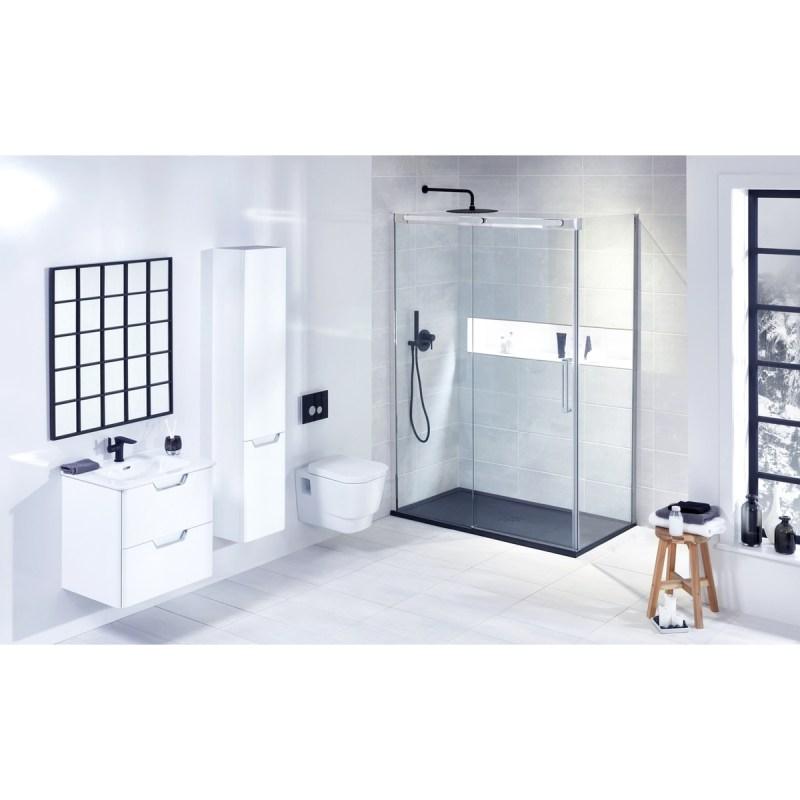Aquaglass  Linear 1400mm Slider Shower Door