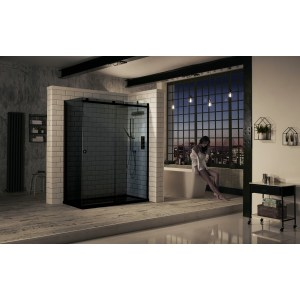 Aquaglass  Sphere 1400mm Sliding Door Smoked Glass