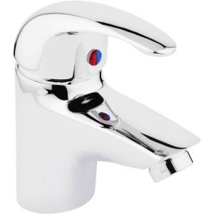 Aquaflow Compact Mono Basin Mixer with Click Clack Waste