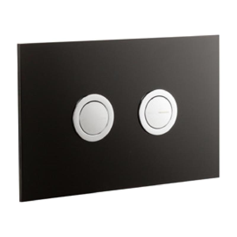 Frontline Glass Flush Plate Carbon