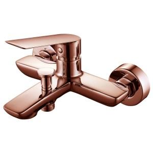 Aquaflow Sleek Wall Mounted Bath Shower Mixer Rose Gold