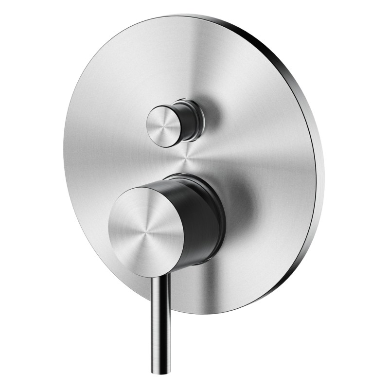 Aquaflow Solito Brushed Steel Concealed 2-Way Shower Valve