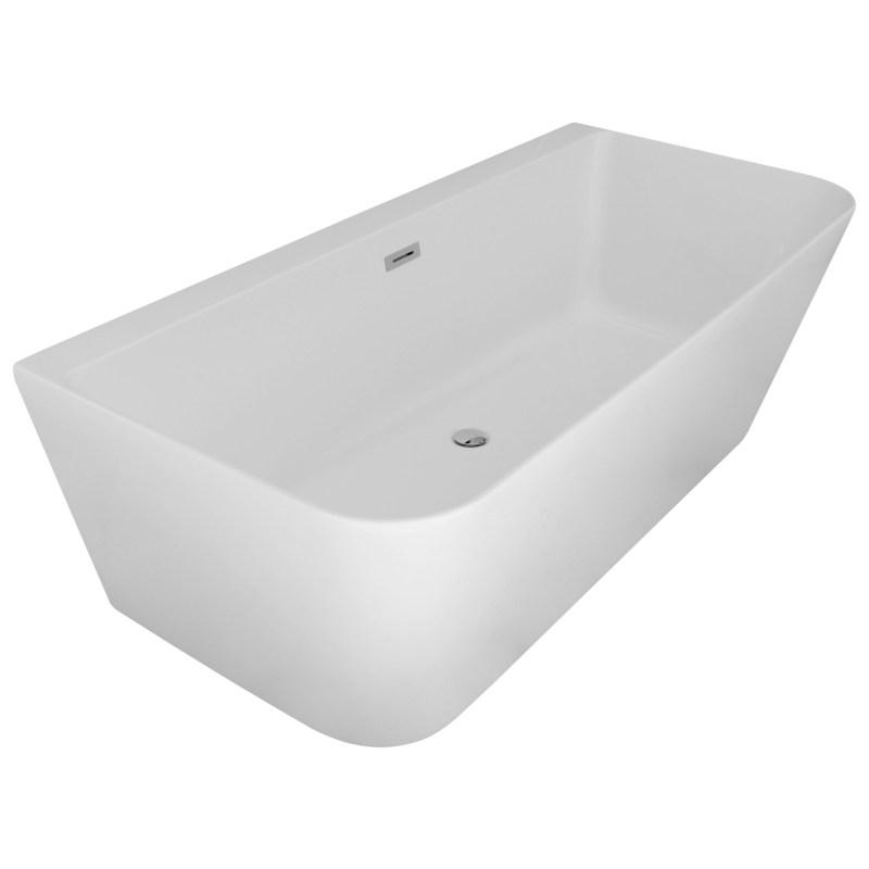 Aqua Mono 1700x800mm Luxury Freestanding Back to Wall Bath