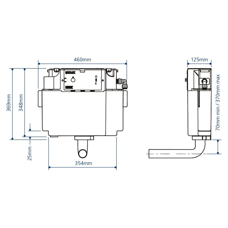 Frontline Concealed Cistern with Side Inlet