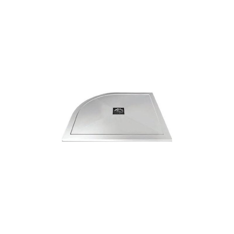 Aquaglass 900x800mm Slimline Offset Quadrant Shower Tray