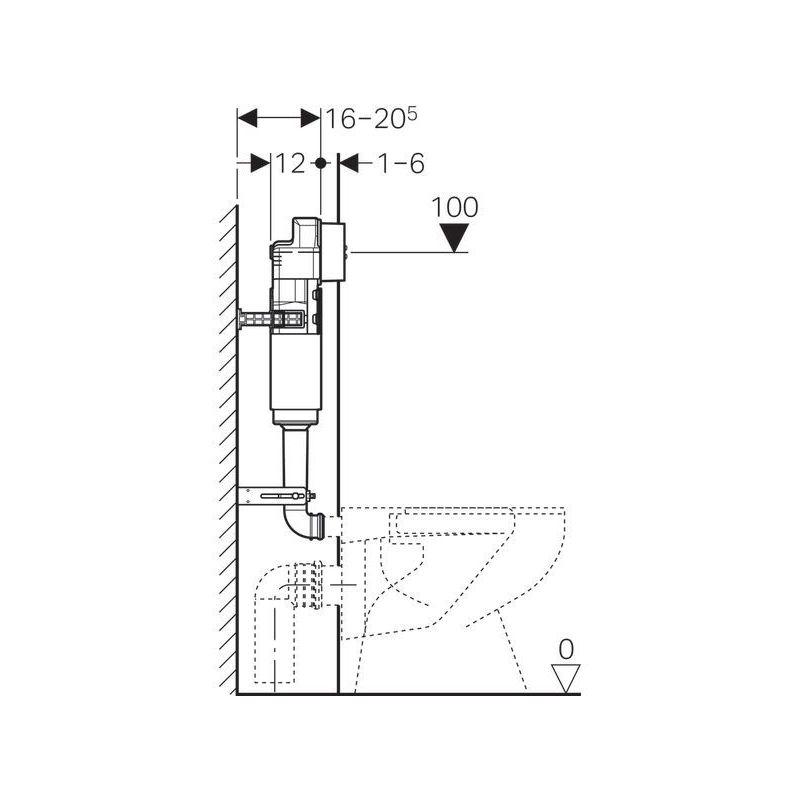 Geberit Delta Concealed Cistern 12cm