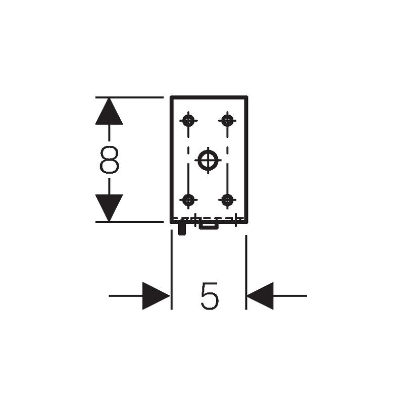 Geberit Duofix Extension Angle Brackets