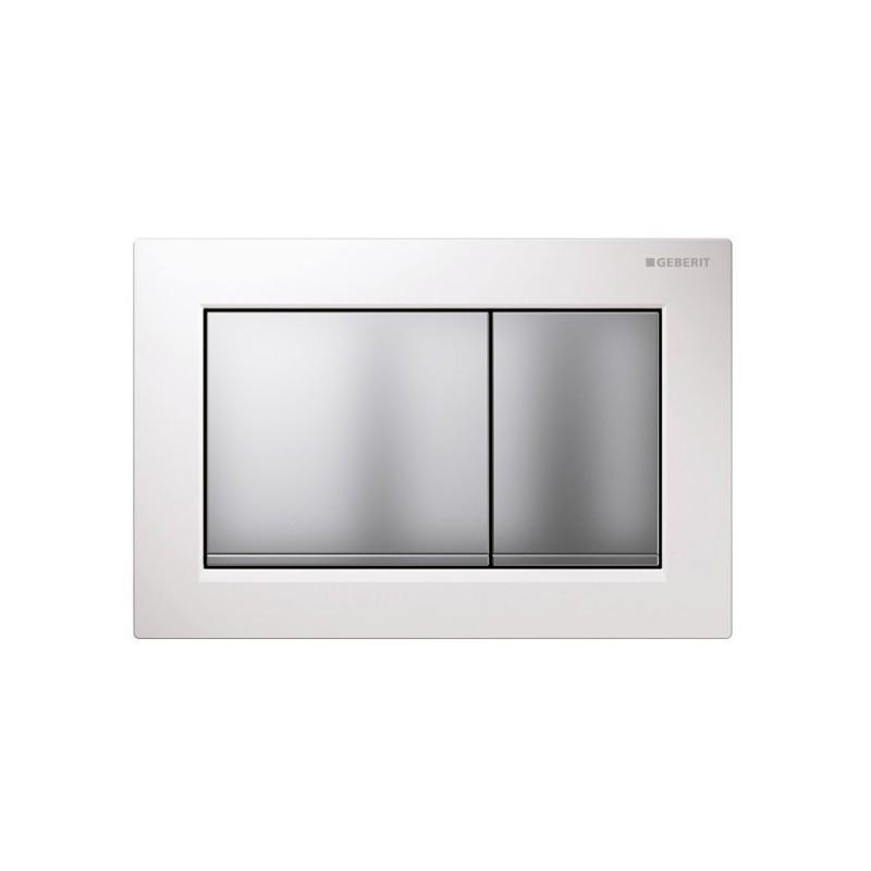 Geberit Omega30 Flush Plate White & Matt Chrome