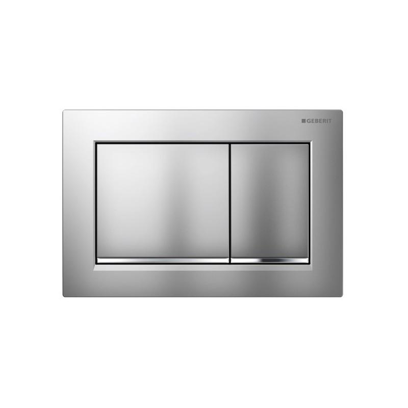 Geberit Omega30 Flush Plate Matt Chrome
