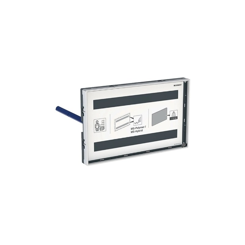 Geberit Omega Cover Plate Surface-Even, Customisation with Frame