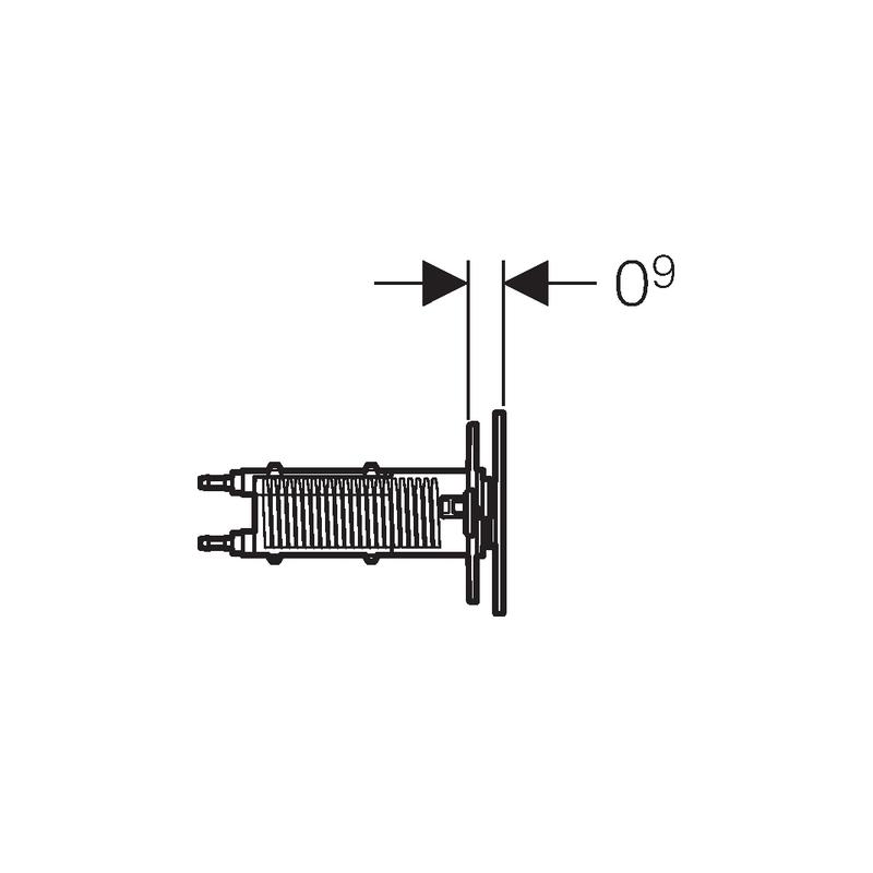 Geberit Omega70 Flush Plate for Solid Wall Brushed Steel