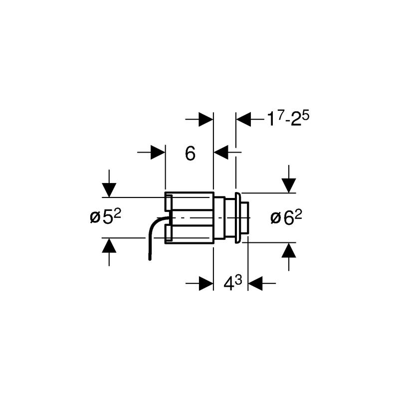 Geberit Palm Push WC Flush Control Pneumatic Brushed Steel