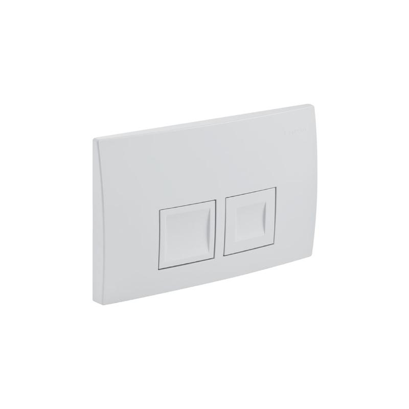 Geberit Delta50 Flush Plate, Dual Flush, White Alpine