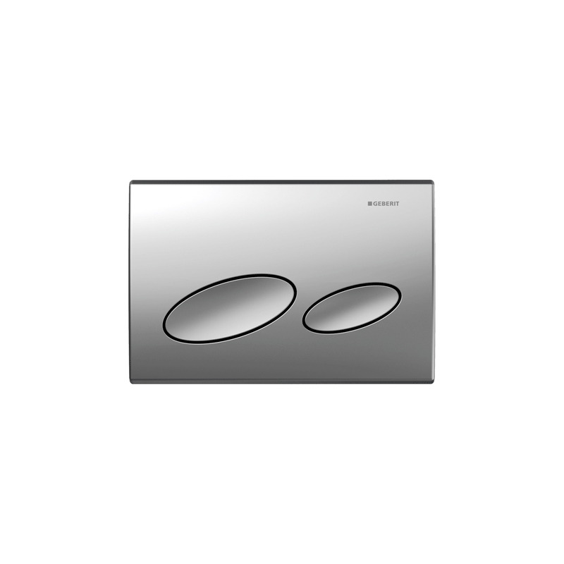 Geberit Flush Plate Kappa20 Dual Flush, Plastic, Matt Chrome