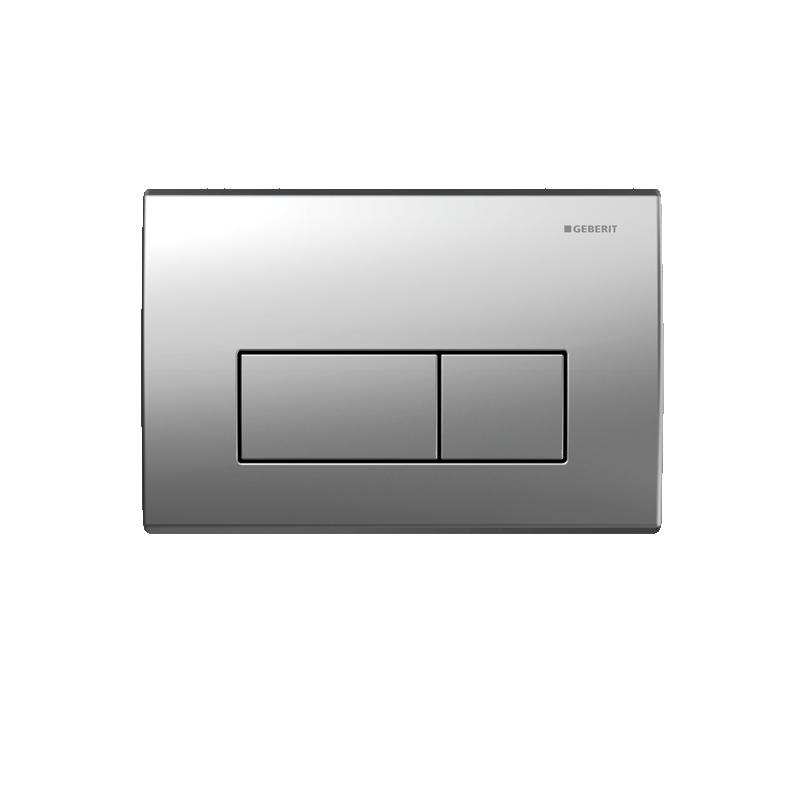 Geberit Flush Plate Kappa50 Dual Flush, Zinc, Matt Chrome