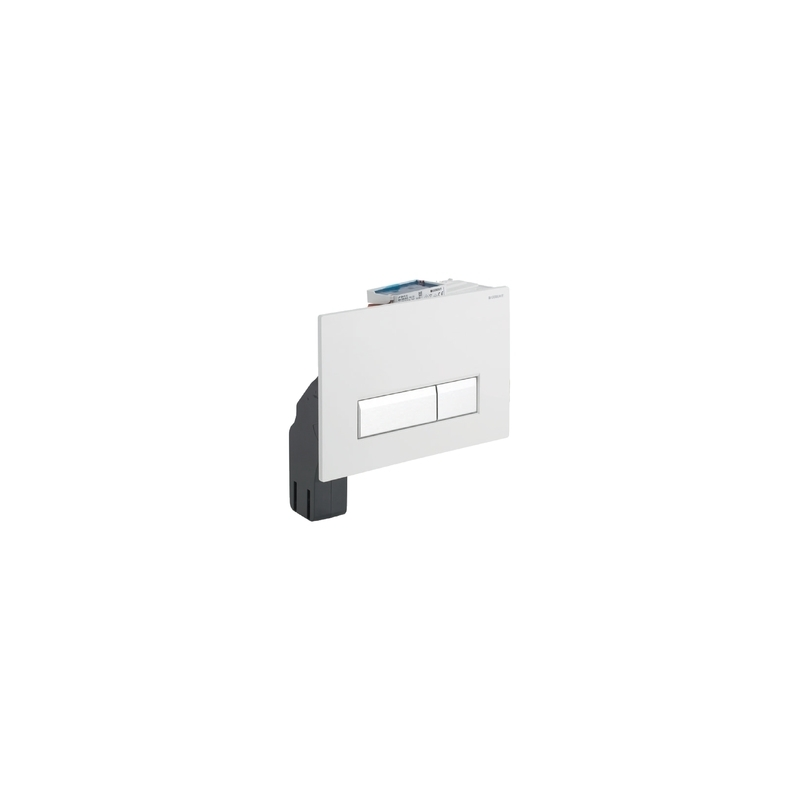 Geberit Flush Plate Sigma40 with Odour Extraction, White Glass