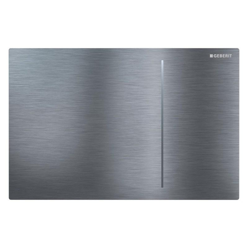 Geberit Sigma70 Flush Plate for Sigma 8cm Brushed Steel