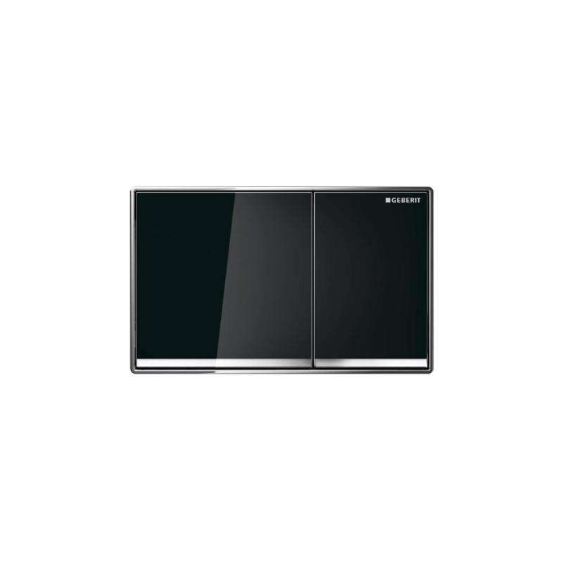 Geberit Sigma60 Dual Flush Plate Black Glass
