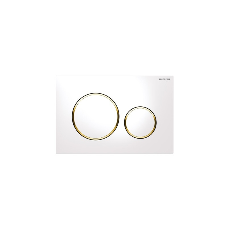Geberit Sigma20 Dual Flush Plate White/Gold-Plated/White