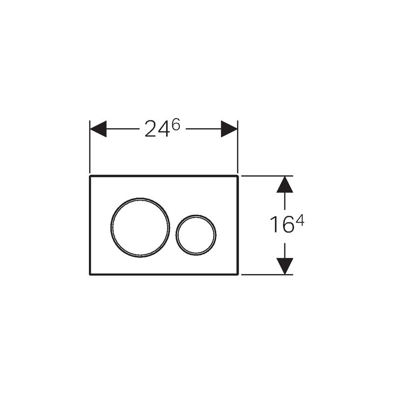 Geberit Sigma20 Dual Flush Plate Matt/Gloss/Matt Chrome