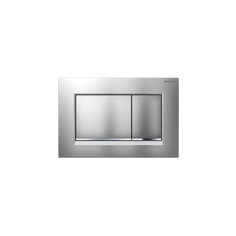 Geberit Sigma30 Dual Flush Plate Matt/Gloss/Matt Chrome