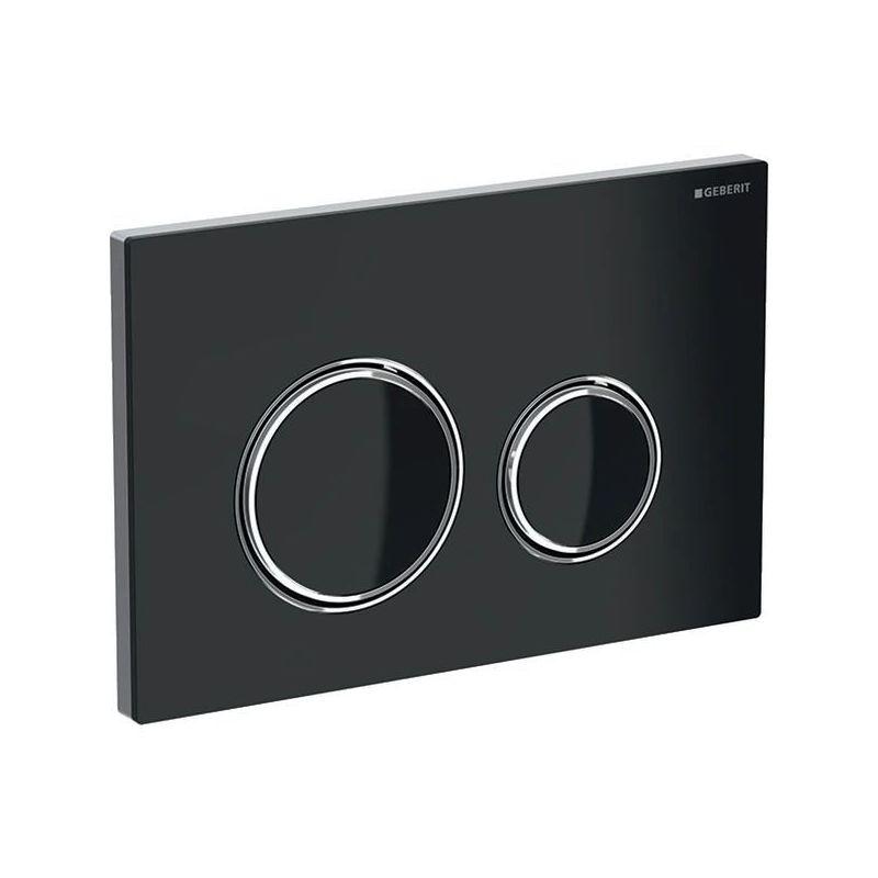 Geberit Sigma21 Flush Plate, Dual Flush, Black-Chrome