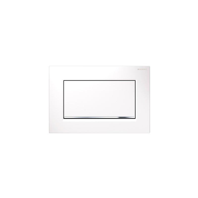 Geberit Sigma30 Single Flush Plate White/Chrome/White Screwable