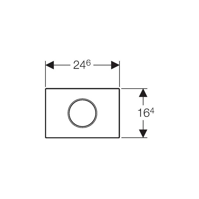 Geberit Flush Plate Sigma10 Mains White / Bright Chrome