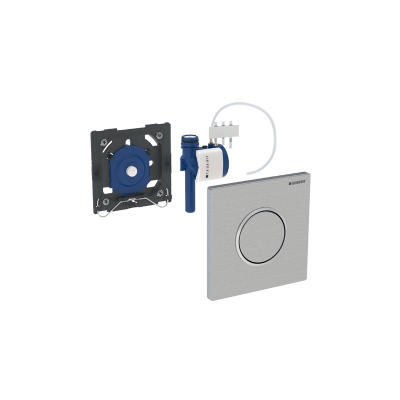 Geberit Urinal Flush Control Pneumatic Sigma10, White/Gold