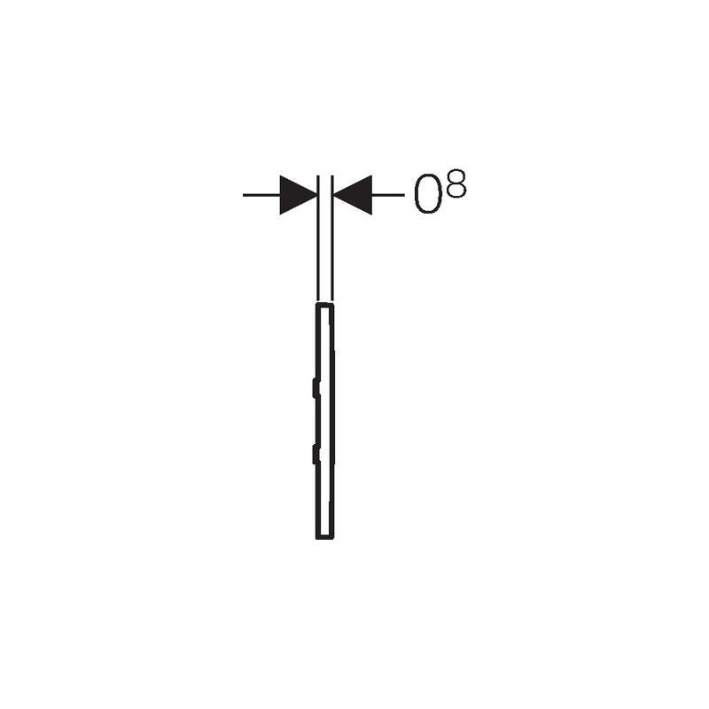 Geberit Sigma30 Urinal Flush Electronic Mains Gloss/Matt/Gloss