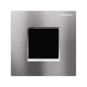 Geberit Sigma30 Urinal Flush Electronic Mains Brushed/Gloss