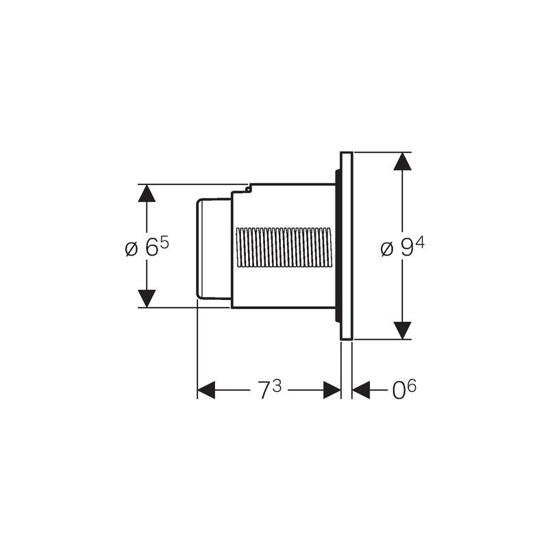 Geberit Single Flush Button White Alpine Type 01 for 12/15cm