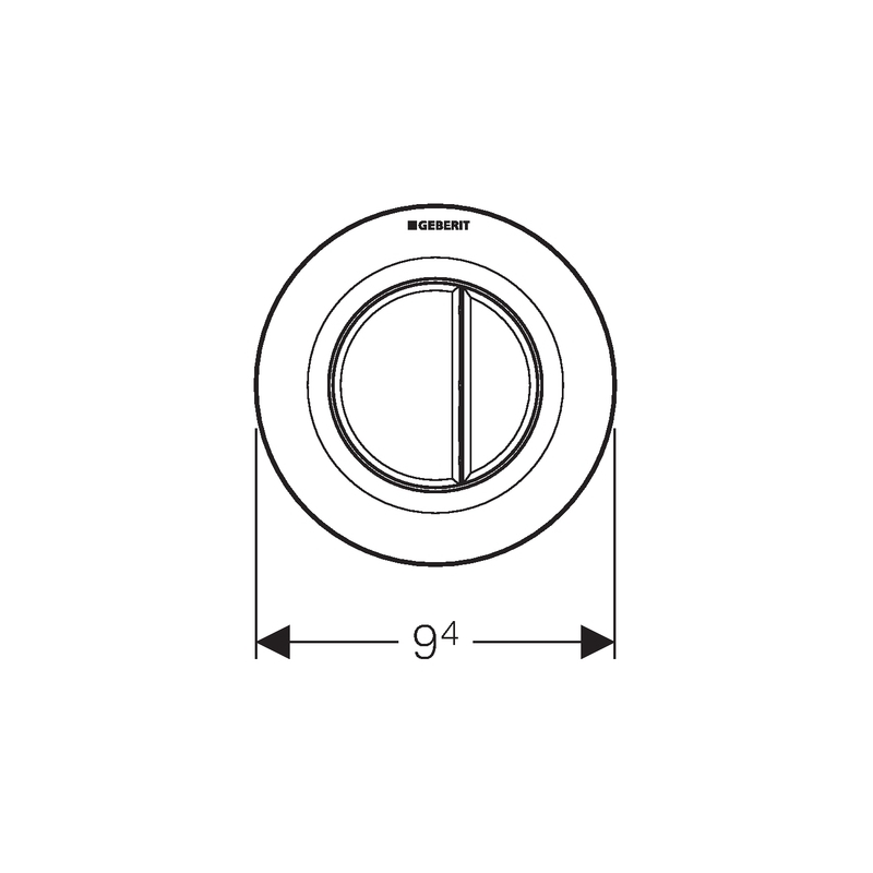 Geberit Flush Button Pneumatic Matt Chrome