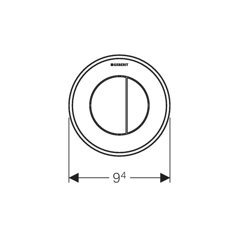 Geberit Dual Flush Button Type 10 12/15cm White/Gold/White